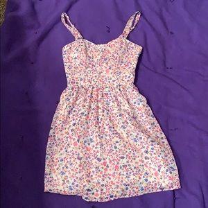 Heart shaped mini summer dress